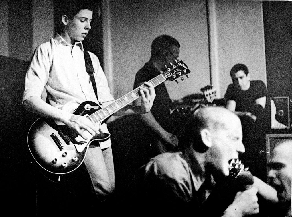 Image of band Minor Threat playing live.