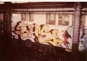 Tag on New York City Subway Car (1984)