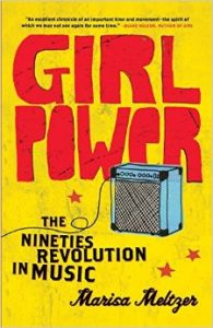 "An image of the cover of ""Girl Power: The Nineties Revolution in Music"" featuring an amplifier."