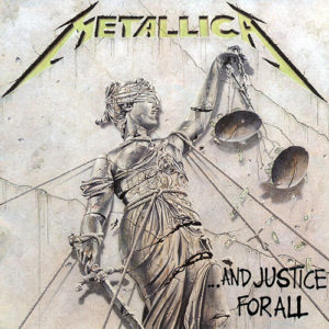 "A picture of Metallica's Album cover: ""...And Justice For All"""