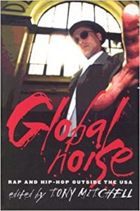 Global Noise by Tony Mitchell, book cover (red, black, and white)