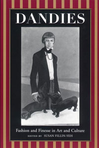 Book title with a drawing of a white Dandy posing with two dogs