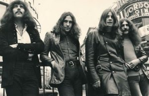 A group picture of the members of Black Sabbath