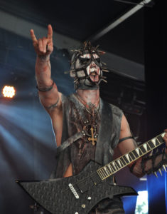 A picture Enzifer, the guitarist of the band Urgehul in Corpse Paint.