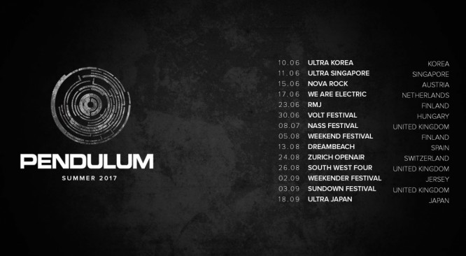 Dates for Pendulum's live shows in 2017