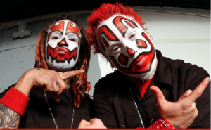 Shaggy 2 Dope (left) and Violent J (right); the leaders of ICP.