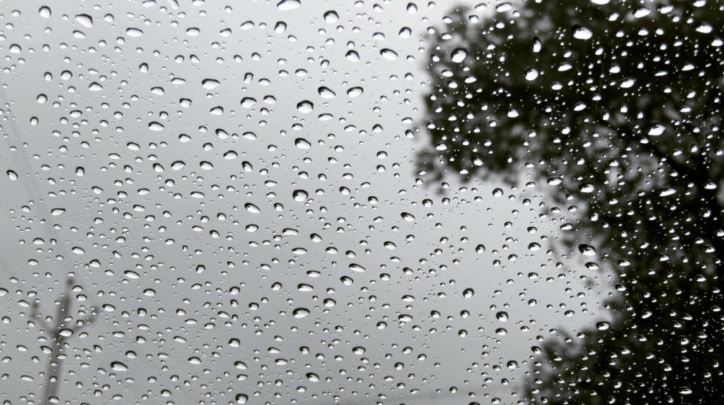 Black and white dramatic rain drops