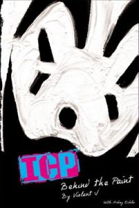 'Behind the Paint' book cover with a close up image of a Juggalo's face with their black and white clown makeup.