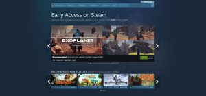 Steam early access store page showing suggested games and prices