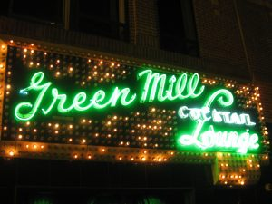 The Green Mill is a bar in Chicago that hosts many performances of different types.