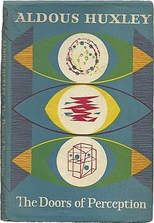 Cover of Aldous Huxley's 1954 book The Doors of Perception detailing Huxley's experience taking mescaline.