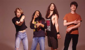 The band Soundgarden poses for a photograph that accompanied an article written about them.