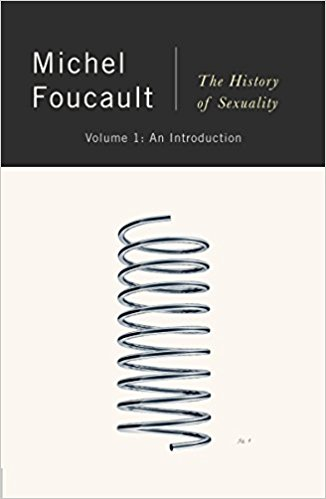 Cover of the History of Sexuality: Volume 1 by Michel Foucault. It shows a simple image of a spring on a white background.