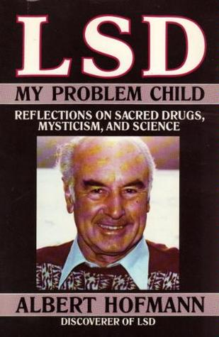 Book cover featuring an image of a smiling white man, Albert Hoffman