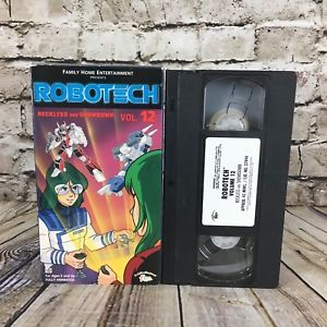 A picture of the Robotech VHS tape and packaging sold by Streamline Pictures