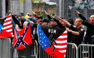 Nazi ideals in right wing subcultures.